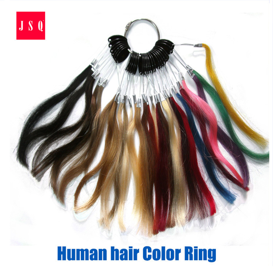 Jsq 29 Kinds Hair Color Ring Card Board Swatches Brazilian Indian