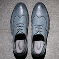 2017 Genuine Leather Men Shoes Brogues,Zapatos Hombre Lace-Up Bullock Business Men Oxfords Shoes Men Dress Shoes Men Flats