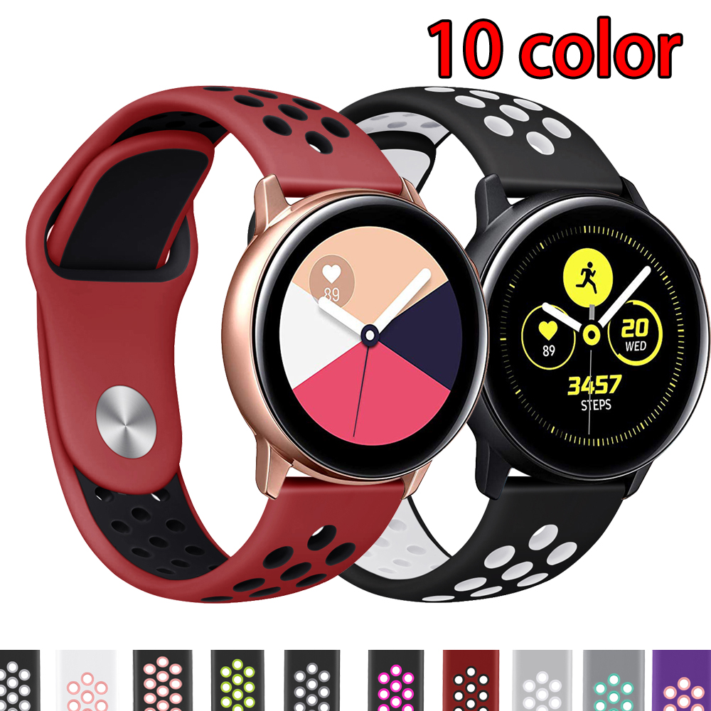 Galaxy Watch Active For Samsung Gear S3 Sport Galaxy Watch 46mm Huawei Watch GT Huami Amazfit Bip Strap 20mm 22mm Watch Band