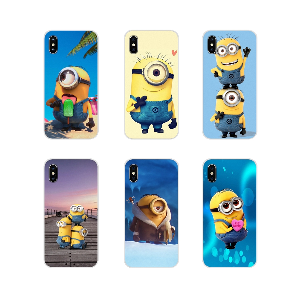 For Huawei P Smart Mate Honor 7A 7C 8C 8X 9 P10 P20 Lite Pro Plus Accessories Phone Shell Covers Funny Minions Art