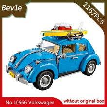 Bevle Store Bela 10566 1167pcs Technic Series Volkswagen Beetle Model Building Blocks Set Bricks For Children Toys LEPIN 10252