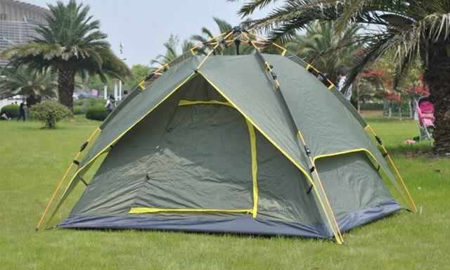 cf0388542eb0 Tiendas automáticas camping exterior 3-4 persona tienda de apertura rápida  neumático doble capa impermeable
