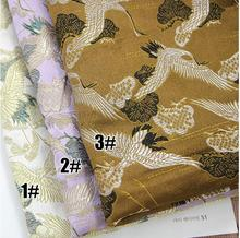quilting fabric,pillow curtain fabric,Imitation silk quality brocade fabrics for cheongsam,Cranes pattern,W012 цена и фото