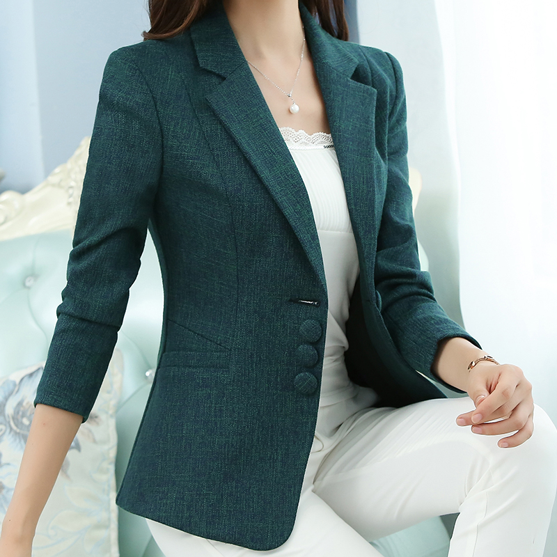 Slim elegant blazer women plus size 5XL suit women office casual 2018 autumn new arrivals 7colors