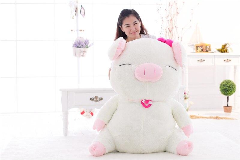 Gros gros cochon en peluche jouet grand joli cochon poupée cadeau environ 80 cm
