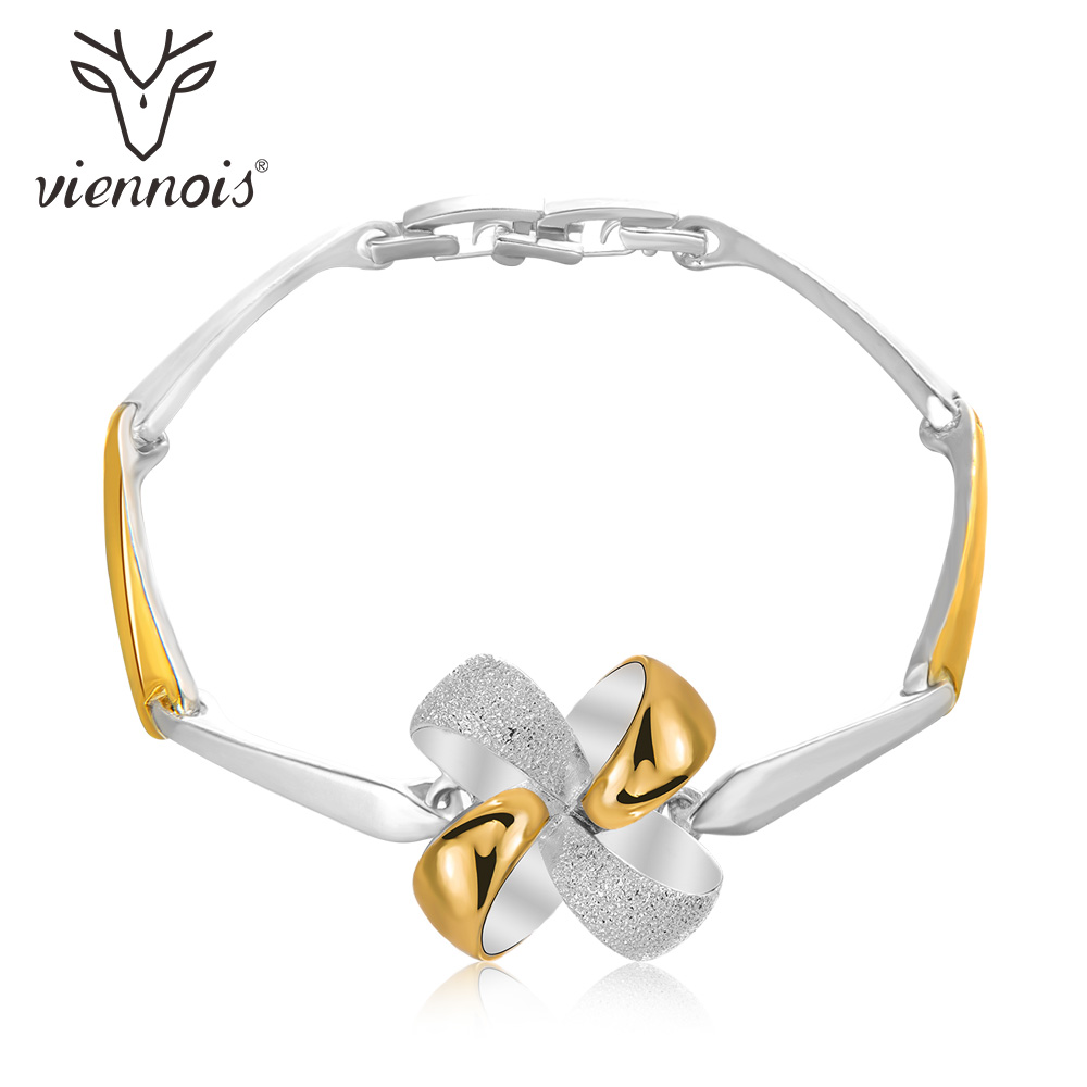 Viennois Bangles Bracelet Gold-Silver-Color Women Enamel And Geometric for Crafts Fashion