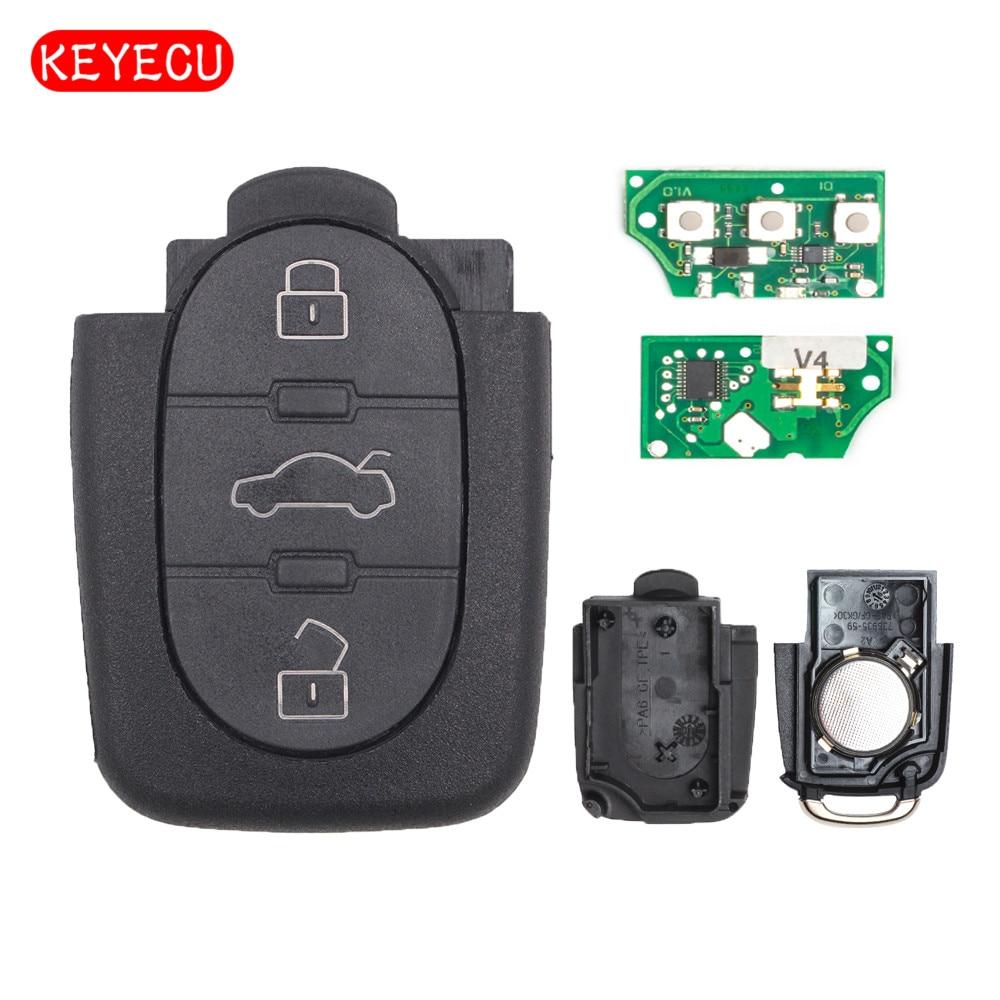 keyecu remote key 3 button fob for volkswagen 1999 2001 beetle 1999 2001 bora 1997 2001 passat. Black Bedroom Furniture Sets. Home Design Ideas