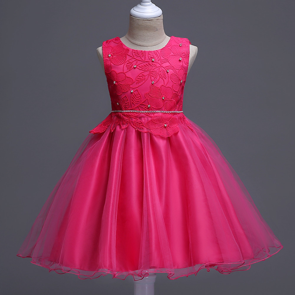New kids children dress sleeveless dress show children Princess Girls Birthday red black dress age of 4 5 6 7 8 9 10 years old hello bobo girls dress collection of sports in the new year is suitable for 2 to 6 years old children s clothing