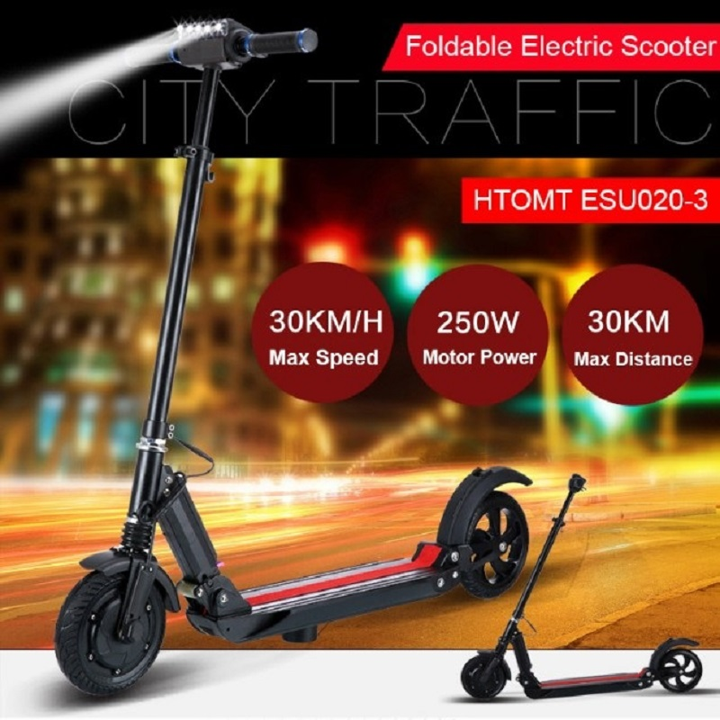 Sale SUPERTEFF EW4 electric scooter LCD display 8 inch 350W electric bike smart two-wheel skateboard scooter for adults folding 5