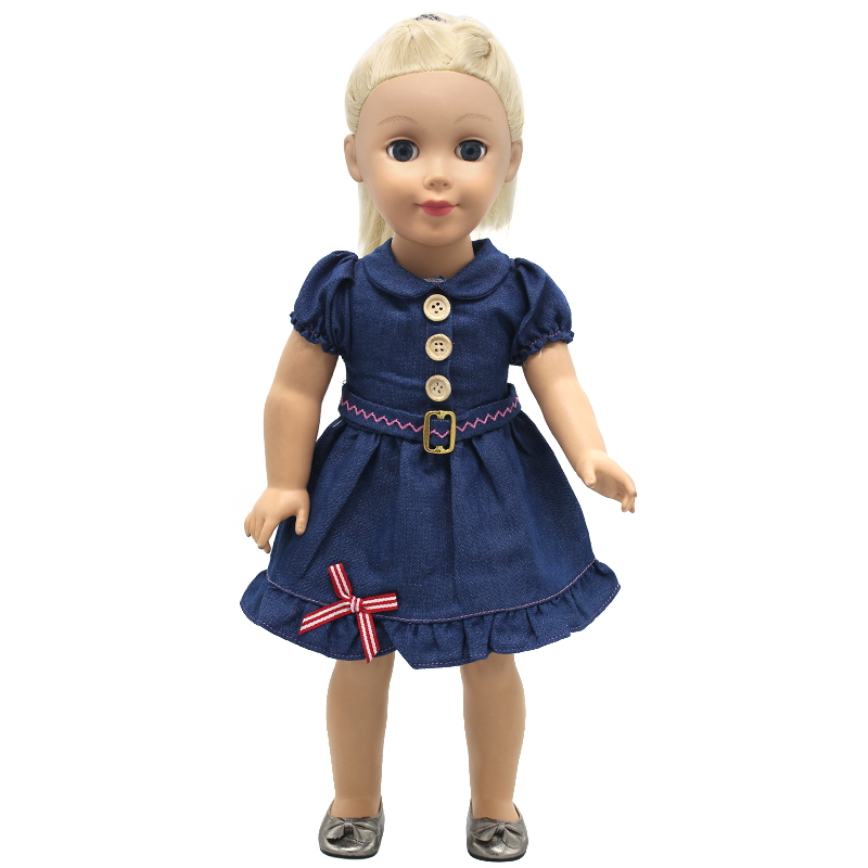 American Girl Doll Clothes Cowboy Dress For 18 inches American Girl Doll Alexander Dress Doll Accessories X-56 drop shipping american girl doll clothes halloween witch dress cosplay costume for 16 18 inches doll alexander dress doll accessories x 68