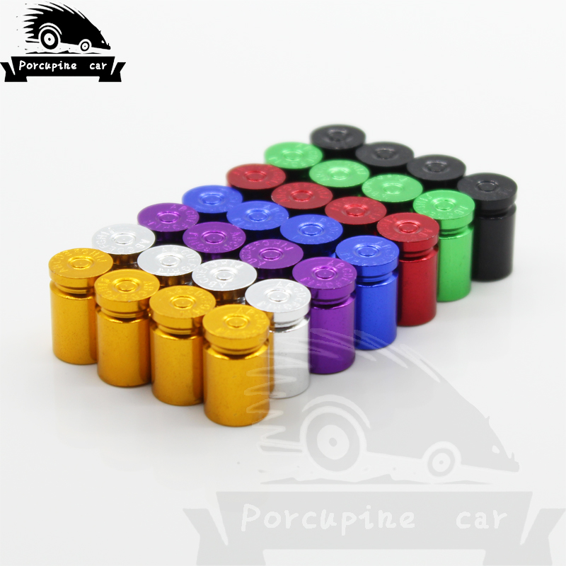 4 Pcs Bullet Shell Wheels Rims Stem Air Tires Truck Bicycle Car Cover Tire Valve Caps Dust Caps For BMW Mercedes Honda Mazda VW