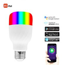 Smart Remote Control Night Light Timer Switch WiFi Smart LED Light Bulb Work for Alexa and google E27 Bulb Multi Color Dimmable(China)