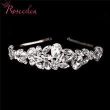 2019 New Cheap Rhinestone Bridal Tiaras Crowns Princess Queen Pageant Prom Wedding Hair Jewelry Girls Headband RE92