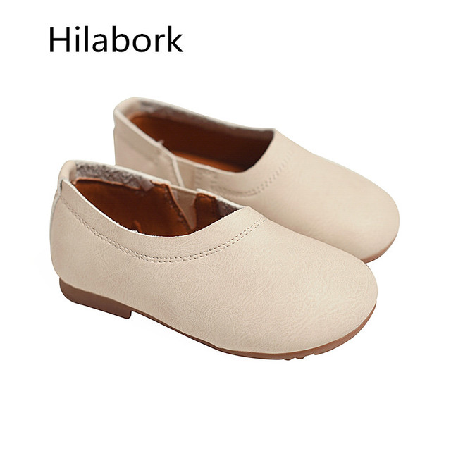 2017 spring new children's shoes girls Peas shoes boys Toddler toddler soft leather shoes small baby soft bottom shoes