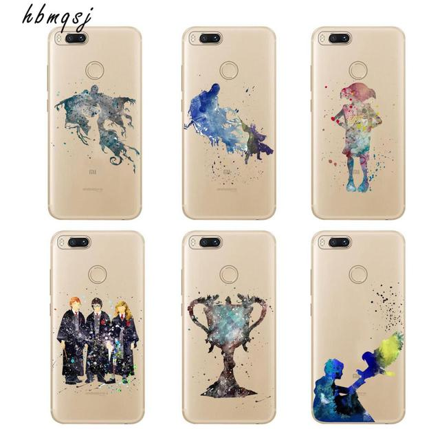 US $0 91 35% OFF|Cartoon for xiaomi mi a1 5x silicone soft tpu transparent  case cool TV series Harry Potter magic wand art painting phone cover-in