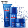 Rolanjona 3pcs Men Skin Care Sets Oil Control Cleanser Refreshing Toner Moisturizing Cream Brand Makeup Beauty Face Care