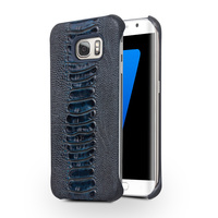 QIALINO New Arrival Special Ostrich Leg Texture Case for Samsung Galaxy S7 Top Layer Leather Cover for Samsung S7 edge 5.5 inch