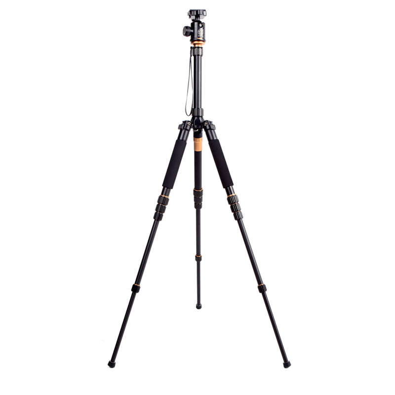 Professional Q-668 Pro Slr Camera Aluminum Alloy Traveling Tripod Monopod With QZSD-02 Changeable Portable Ball Head #20% qzsd q570 portable tripod professional camera tripod monopods for slr camera tripod head monopod changeable for slr dslr camera