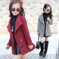 2016 Girls Winter Faux Fur Fleece Girls' Coats Kids Warm Jacket Children Snowsuit Outerwear Dress Style Jacket   L2253