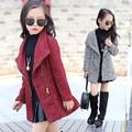 2016 Girls Winter Faux Fur Fleece Girls' Coats Kids Warm Jacket Children Snowsuit Outerwear Dress Style Jacket   L2253