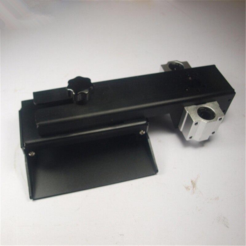Z axe construire plaque pour DLP SLA 3D imprimante pièces bricolage forme Z axe aluminium construire plate-forme kit noir anodisé
