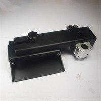 Z оси сборки пластина для 3D принтер для DLP 3D принтер части DIY форма Z алюминиевая ось платформа для изготовления комплект черный анодированны