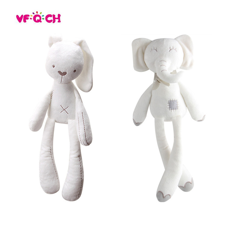Plush Cute Rabbit Stuffed Animal Toys Appease Sleeping Soft Bunny Bear Dolls For Children Kids Baby Birthday Kawaii Gift 28cm kawaii animal plush dolls kids stuffed toys for children soft comfort baby toys cows rabbit fox teddy bear