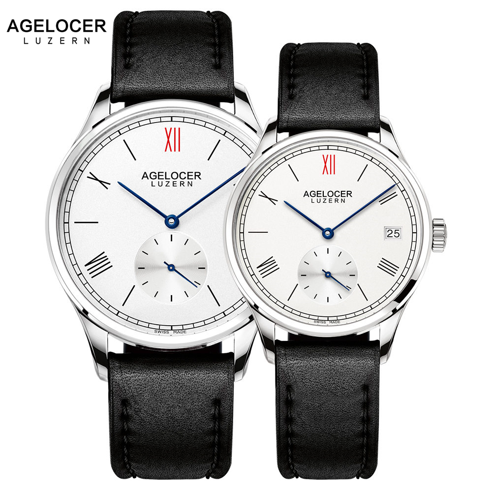 AGELOCER Men Watch Swiss Top Brand Luxury Mechanical Watches 2017 Women Men Stainless Steel Bracelet Watches For Couple Lovers цена