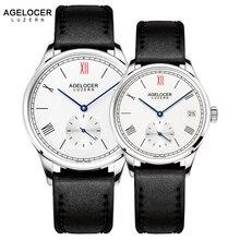 AGELOCER Для мужчин часы швейцарские лучший бренд класса люкс механические часы 2017 Для женщин Для мужчин Нержавеющаясталь браслет часы для любителей пара