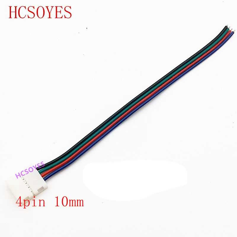 5 sztuk 2pin/3pin/4pin/5pin/6pin, 8mm, 10mm, 12mm, LED złącze lutowane do 3528/5050/3014/WS2812B/ws2811 taśmy ledowej RGB/RGBW