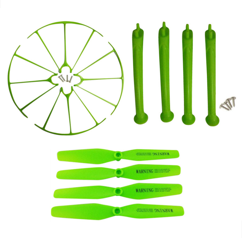 SYMA New X5H X5HC X5HW axis WIFI UAV landing gear parts green blade propeller protection ...