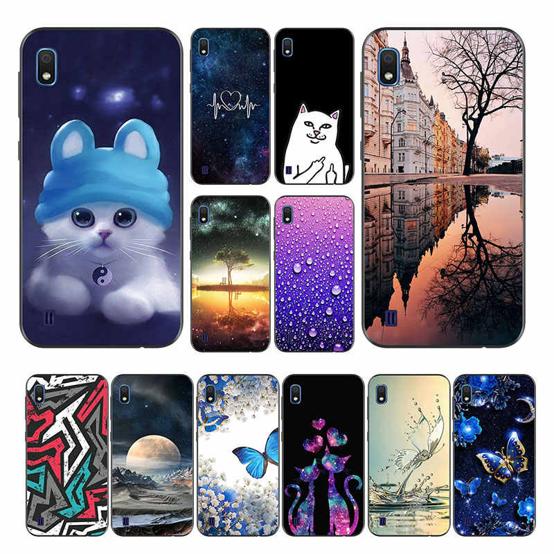 For Funda Samsung Galaxy A10 Case Silicon Color Paint sFor Samsung A10 Back Cover Soft TPU A105F A105 A 10 2019 Phone Case Matte
