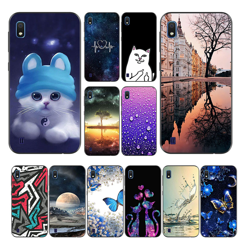 For <font><b>Funda</b></font> <font><b>Samsung</b></font> Galaxy <font><b>A10</b></font> Case Silicon Color Paint sFor <font><b>Samsung</b></font> <font><b>A10</b></font> Back Cover Soft TPU A105F A105 A 10 2019 Phone Case Matte image