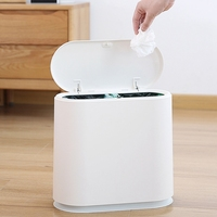Creative Fashion Pressing Type Trash Can Classification Rubbish Bucket Household Kitchen Bedroom Toilet Waste Bin