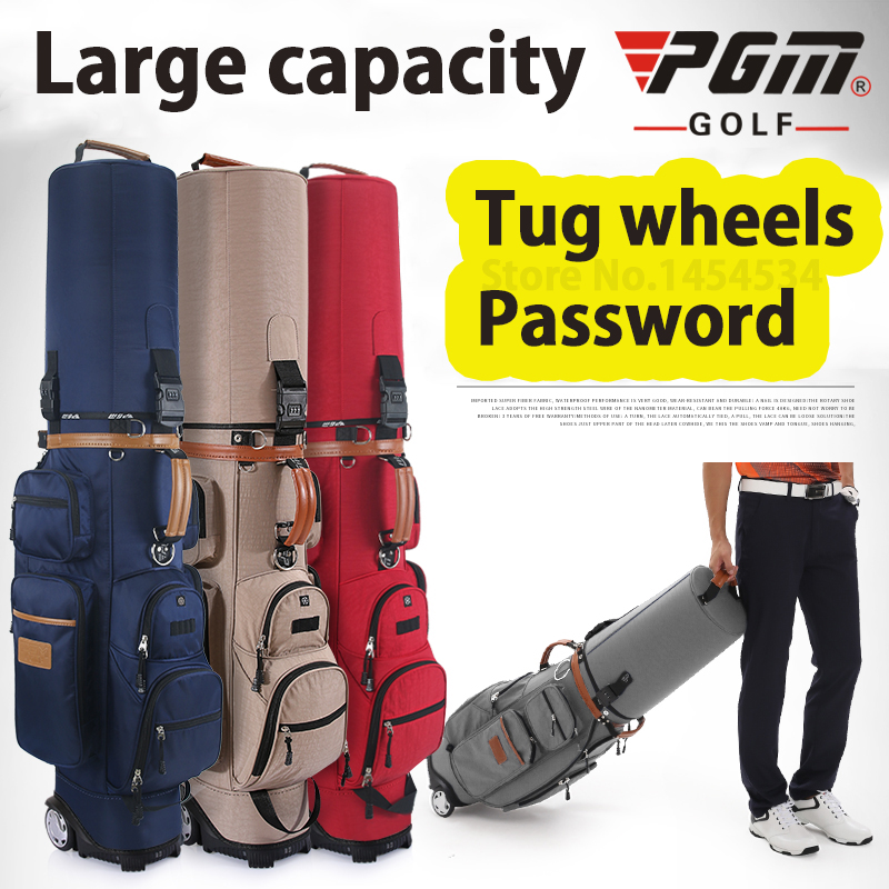 Markë Autentike Multifunksionale Golf Standard Qese Rrota Golf Caddy Viation Bag Modeli Mbështetje Paketimi Top Pulley Golfbag