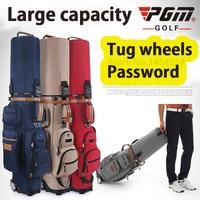 Authentic Brand Multifunctional Golf Standard Bag Wheel Golf Caddy Viation Bag Men Pattern Bracket Ball Package Pulley Golfbag