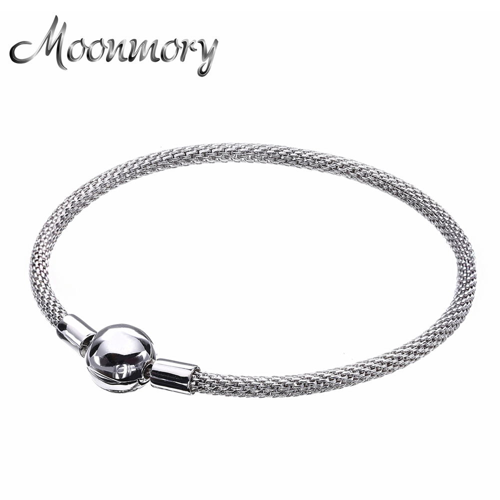 Moonmory  Europe Bracelet Original 925 Sterling Silver Woven Bracelet With Clasp Fits For Women New Hot Style Christmas GiftsMoonmory  Europe Bracelet Original 925 Sterling Silver Woven Bracelet With Clasp Fits For Women New Hot Style Christmas Gifts