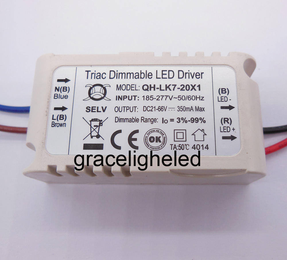 5pcs Isolation W 20w Ac185 277v Triac Dimmable Led Driver 7 20x1w Circuit 3w 300ma Constant Current Buy Dc21 68v Power Free Shipping In Bulbs Tubes From Lights