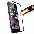 Blanco/negro para iphone 6 6 s 6g 4.7 ''y para 6 6 s plus 5.5'' Premium Vidrio Templado Protector de Pantalla de Cine de Cobertura Total