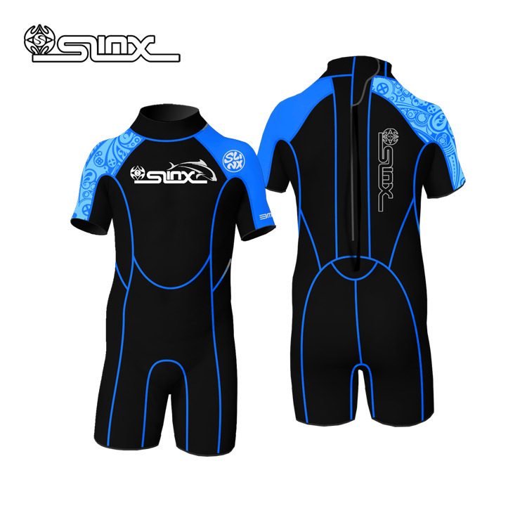 Neoprene Wetsuit Diving-Suit Children Shorty 32pieces Kids for Boy Girl Swimming Fedes