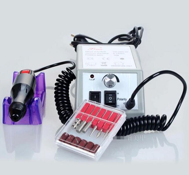 Pro Electric Nail Art Drill Machine 20000RPM Equipment Manicure Kit Tool Nail File Bit Sanding Band Accessory 220v Eu plug white nail tools electric nail drill machine 30000rpm nail art equipment manicure kit nail file drill bit sanding band accessory