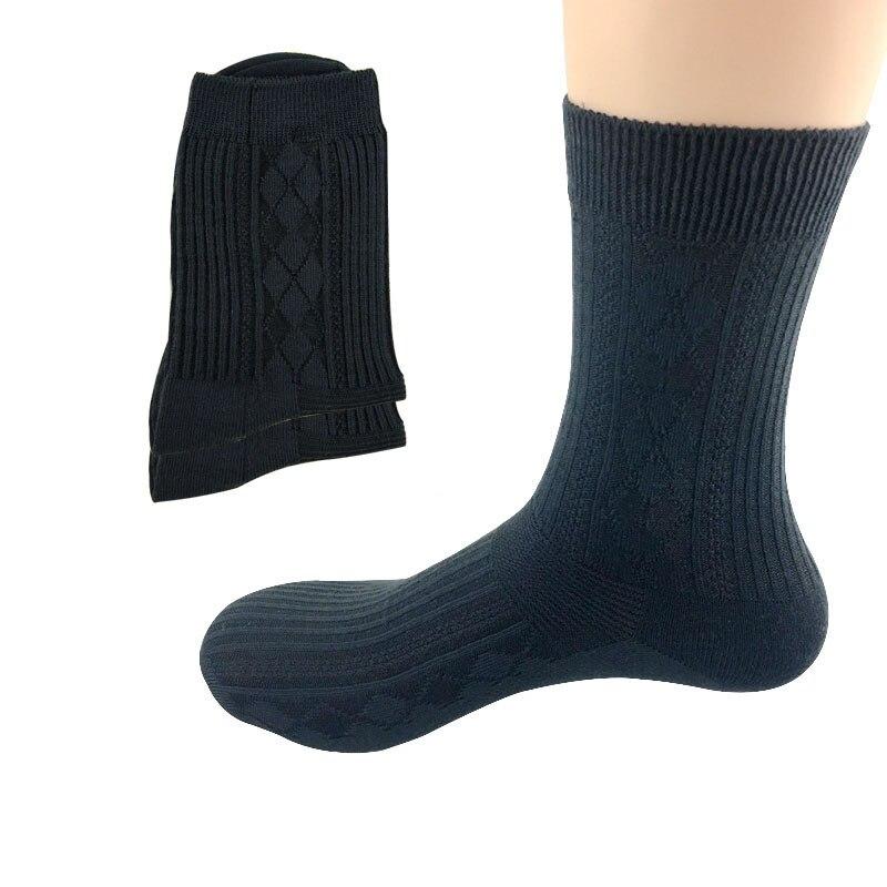 6 Pairs Men Socks Business Bamboo Fiber Socks Men Solid Color Striped for Men High Quality Deodorant Novelty Popular Men Socks