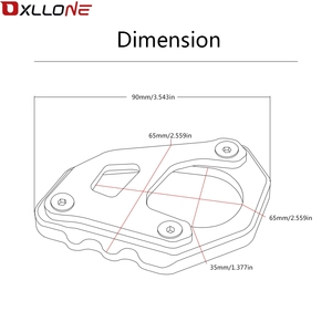 Image 5 - Hoge Kwaliteit Motorfiets Side Stand Pad Uitbreiding Plaat Side Stand Vergroten Motorfiets Side Stand Vergroten Voor Ktm 1050 Adventure