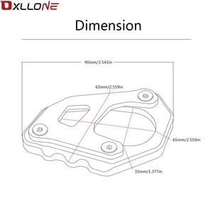 Image 5 - Yüksek kaliteli motosiklet yan standı Pad büyütme plaka yan standı büyüt motosiklet yan standı büyütmek için KTM 1050 macera