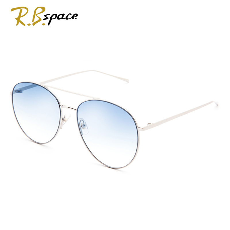 R.B.spaces 753Fashion Classic Gradient Eyeglasses woman Sunglasses Transparent Metal Frame Women Yurt Sun Glasses Frame UV400