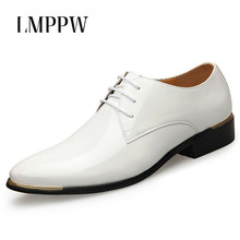 Hot Men Leather Shoes Pointed Toe Men Dress Shoes Fashion Patent Leather Wedding Party Flat Shoes Italian Men Formal Oxfords 2A hot men leather shoes pointed toe men dress shoes fashion patent leather wedding party flat shoes italian men formal oxfords 2a
