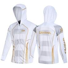 Daiwa Для мужчин Одежда для рыбной ловли ветрозащитная куртка на молнии, анти-москитные колготки пальто рыболовные жилетки для бега для верховой езды Рыбалка