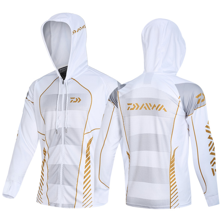 New 2020 Daiwa Men Fishing Clothings Windproof Zipper Jacket Anti-Mosquito Coat Fishing Jersey Running Riding Fishing Clothes