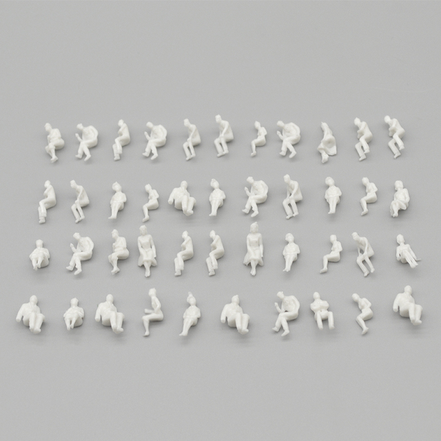 sitting figure seated miniature white people Architectural model human scale ABS plastic peoples 2