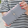 New Top Quality Women Wallets Fashion Front Zipper Long Ladies Purse Women's Designer Brand Clutch Wallet Woman Wallet